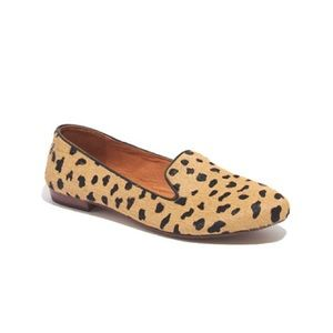 Madewell Teddy Loafer Smoking Flat cheetah leopard